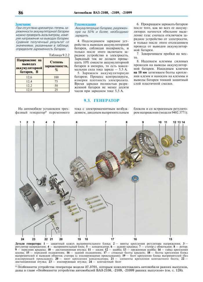 Руководство по ремонту и эксплуатации в цветных фотографиях ваз 2108 / ваз 2109 / ваз 21099 (vaz 2108 / vaz 2109 / vaz 21099)