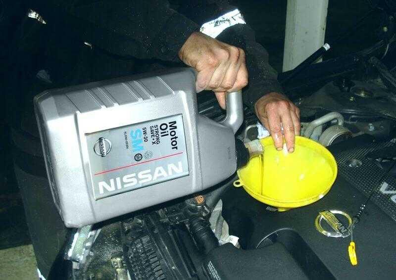 Как заменить масло в двигателе ниссан теана самостоятельно?