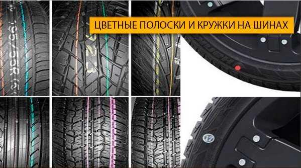Цветные точки на шинах
