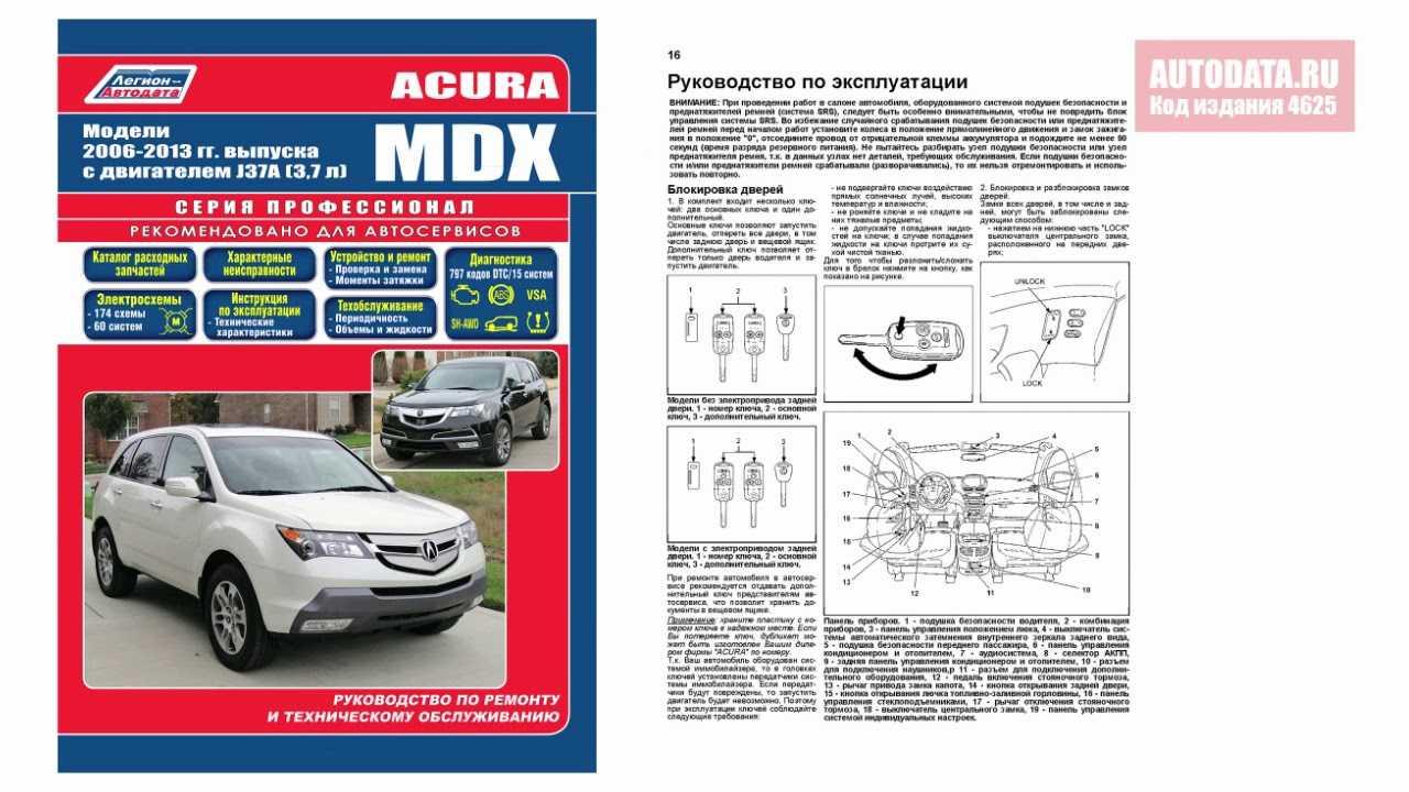 Acura mdx с 2006 года, спецификация двигателя инструкция онлайн