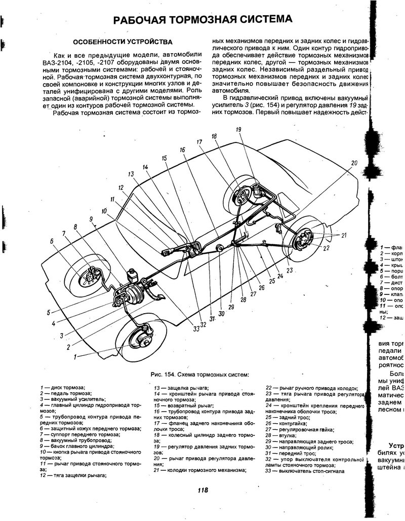Руководство по самостоятельной замене тормозных шлангов автомобиля ваз 2107