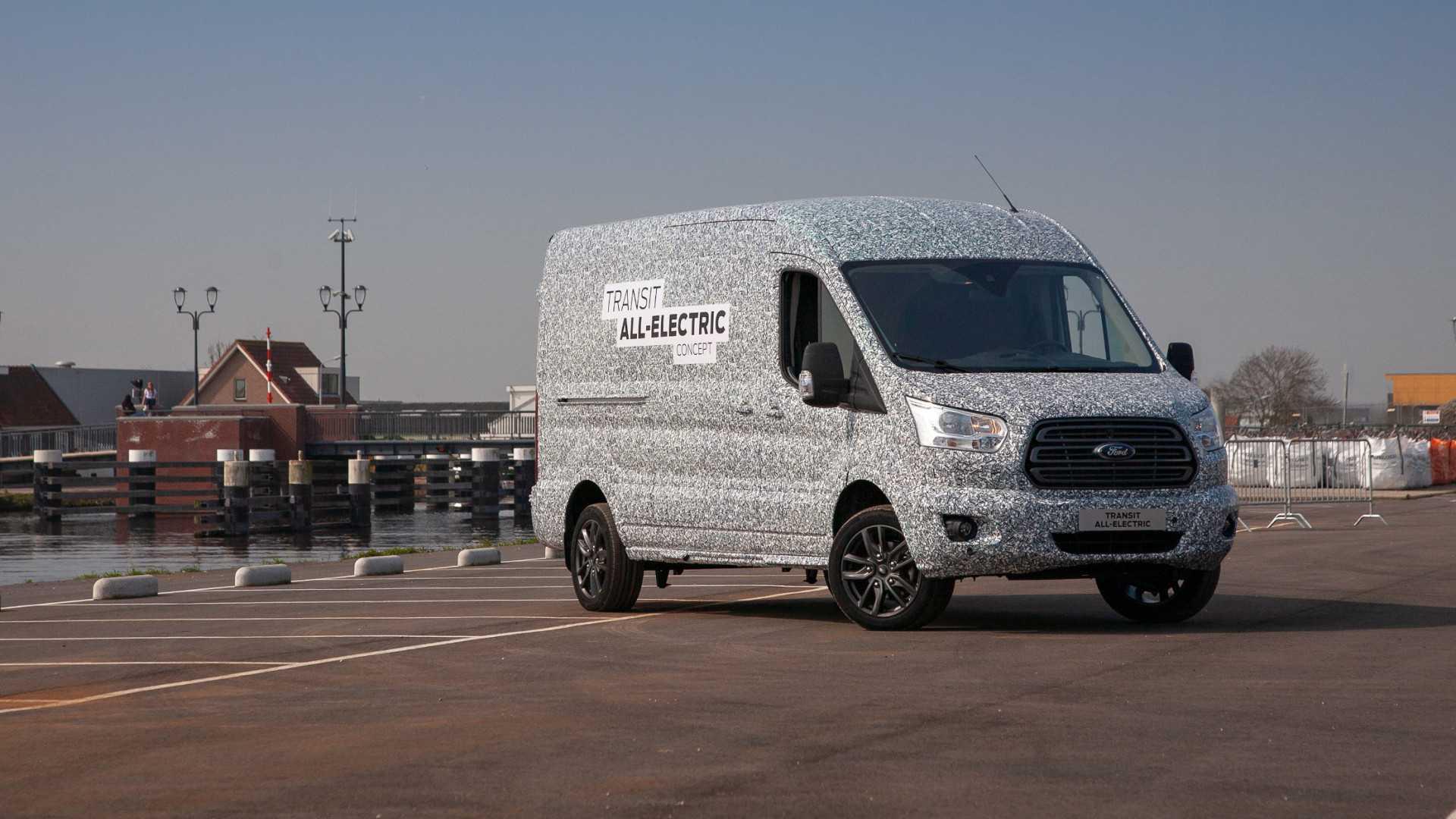 Форд презентовал электрическую версию своего коммерческого автомобиля Transit в названии которого прибавилась литера E