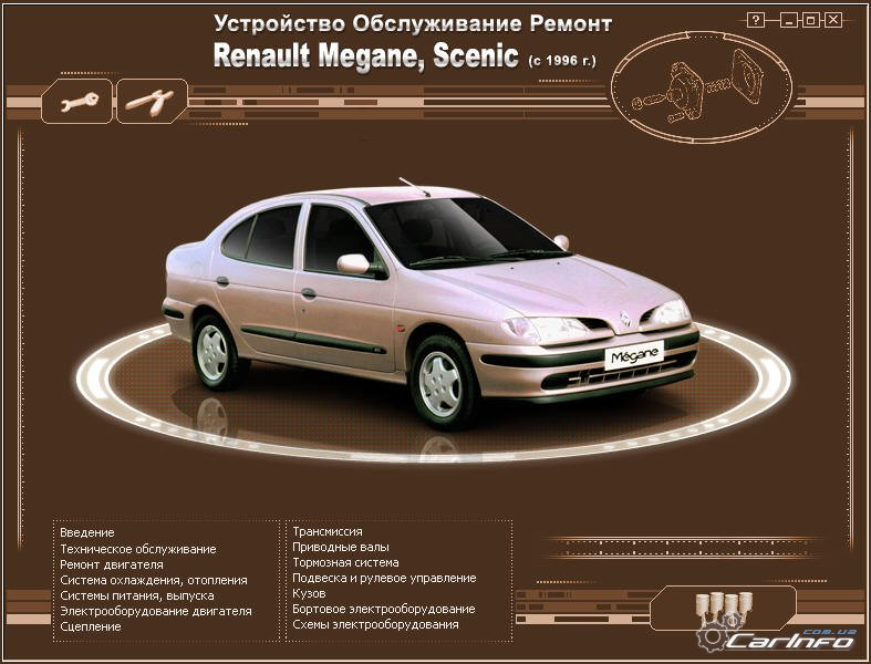 Renault Megane Scenic пособие по эксплуатации даст возможность владельцам Renault Megane Scenic эксплуатировать его правильно без нанесения ущерба как автомобилю так и своему семейному