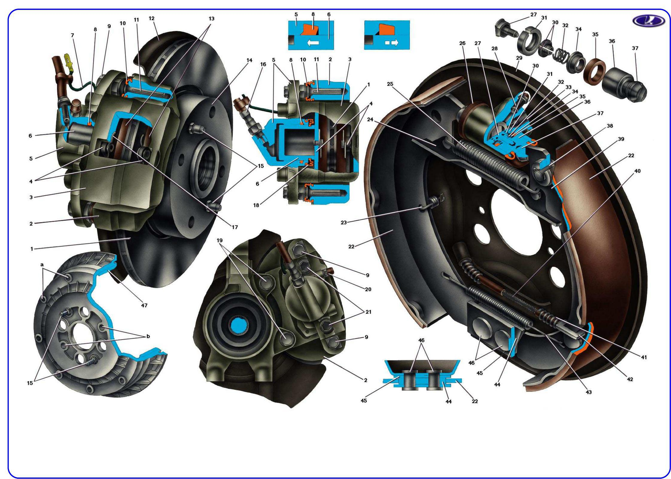 Устройство тормозной системы ваз-2110, ваз-21102