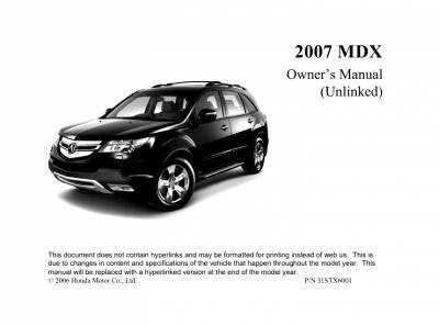 Acura mdx с 2010 года, хранение автомобиля инструкция онлайн