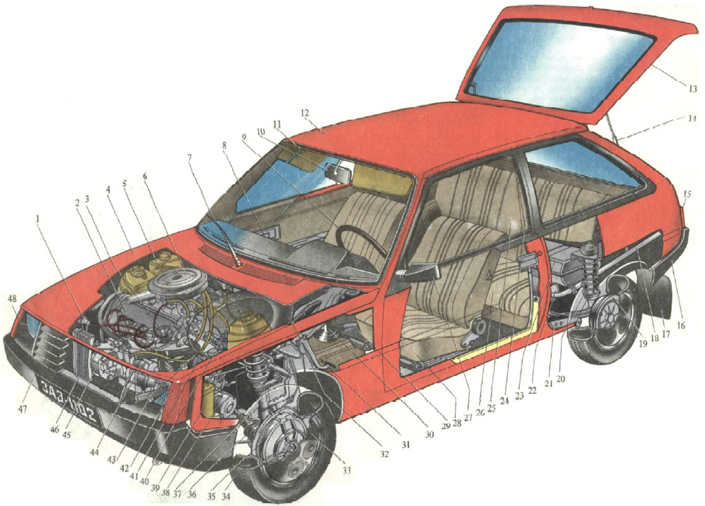 Заз таврия, cпецификация систем автомобиля инструкция онлайн