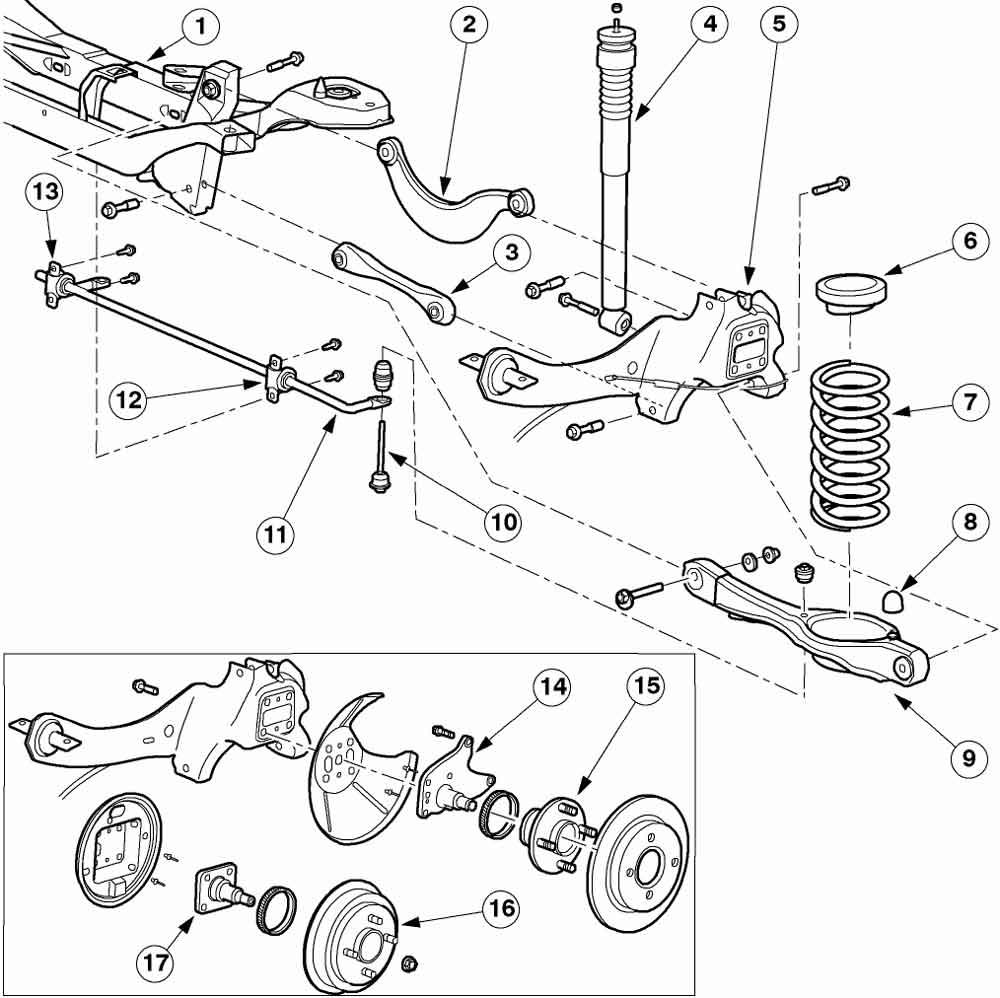 Где находятся сайлентблоки задней подвески форд фокус 2 и какое их количество подготавливаем инструмент и машину порядок проведения работ пошаговое руководство к действию